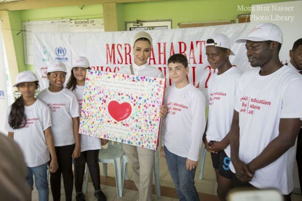 صاحبة السمو الشيخة موزا في رحلة تفقدية للأطفال اللاجئين بماليزيا