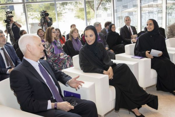 HH Sheikha Moza officially opens The Media Majlis at Northwestern University in Qatar