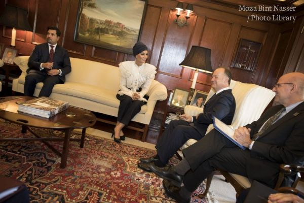 HH Sheikha Moza participates in seminar discussion at Georgetown University in Washington DC