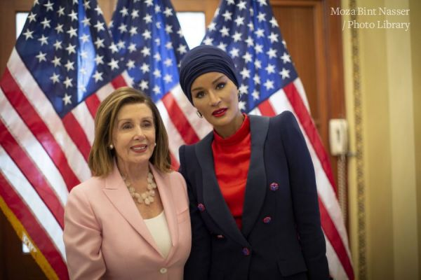 HH Sheikha Moza meets with US Speaker Nancy Pelosi