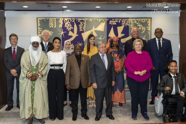 HH Sheikha Moza attends SDG Advocacy meeting at UN