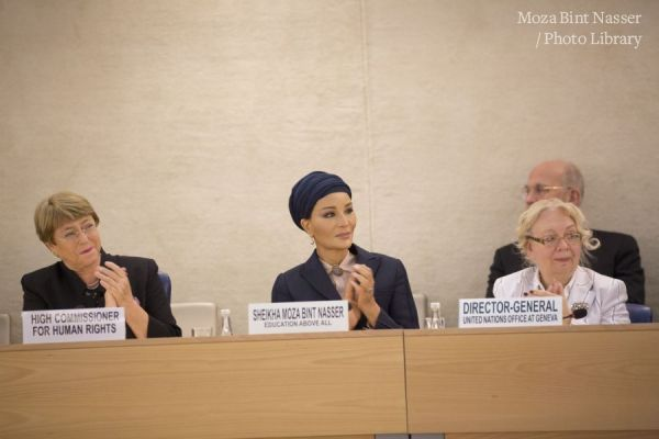 HH Sheikha Moza gives keynote address at the Social Forum of the Human Rights Council