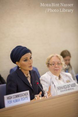 صاحبة السمو الشيخة موزا تشارك في المنتدى الاجتماعي لمجلس حقوق الإنسان