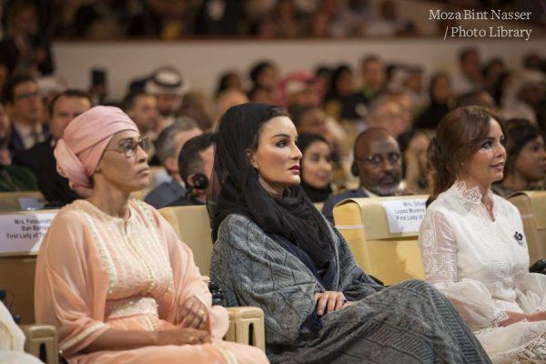 صاحبة السمو الشيخة موزا تشارك في جلسة مؤسسة التعليم فوق الجميع بمؤتمر وايز