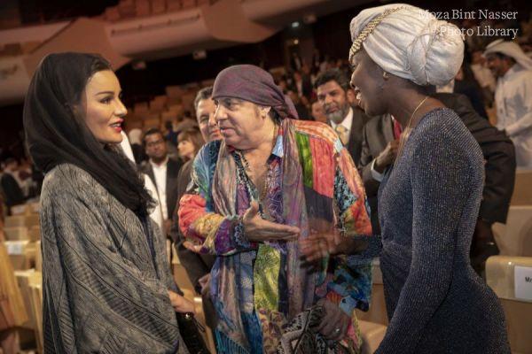 صاحبة السمو الشيخة موزا تشهد الجلسة الختامية لمؤتمر وايز 2019