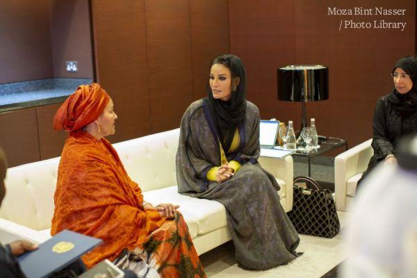 صاحبة السمو الشيخة موزا تجتمع مع نائب الأمين العام للأمم المتحدة