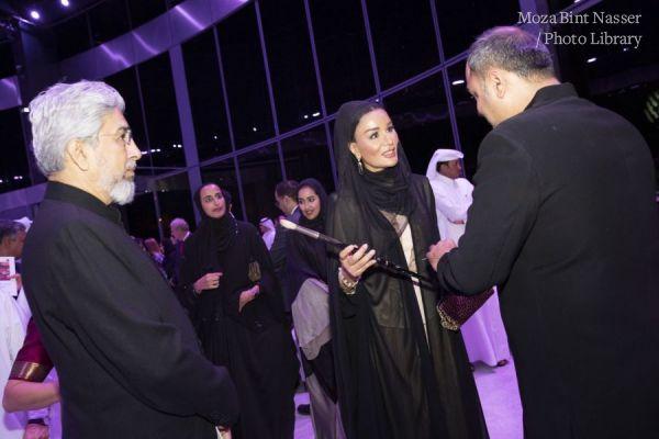 صاحبة السمو الشيخة موزا تكشف عن آخر عمل فني لمقبول حسين