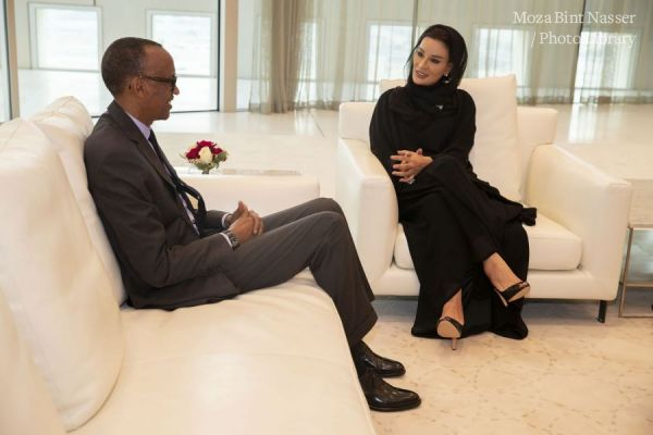 HH Sheikha Moza meets with President of Rwanda
