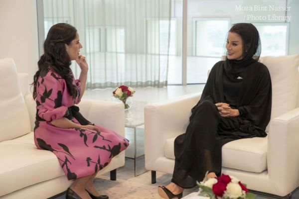 HH Sheikha Moza meets with First Lady of El Salvador