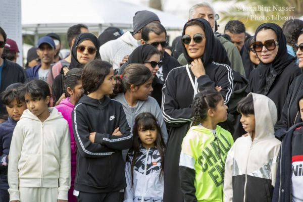 HH Sheikha Moza participates in Qatar National Sport Day