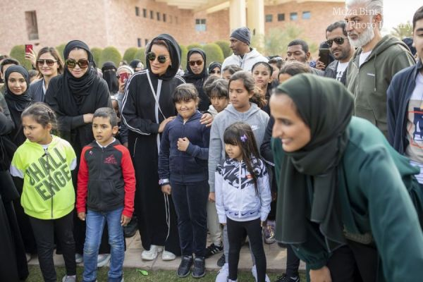صاحبة السمو الشيخة موزا تشارك في فعاليات اليوم الرياضي للدولة ٢٠٢٠
