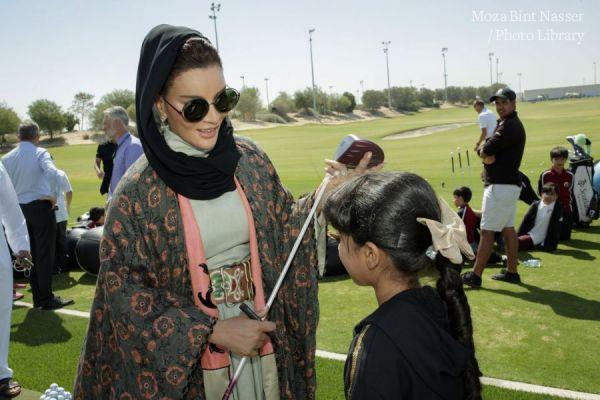 صاحبة السمو الشيخة موزا تشهد حفل افتتاح نادي المدينة التعليمية للجولف