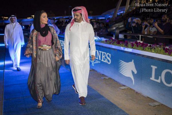 صاحبة السمو الشيخة موزا تشهد نهائي جولات بطولة لونجين العالمية لأبطال قفز الحواجز ٢٠٢٠