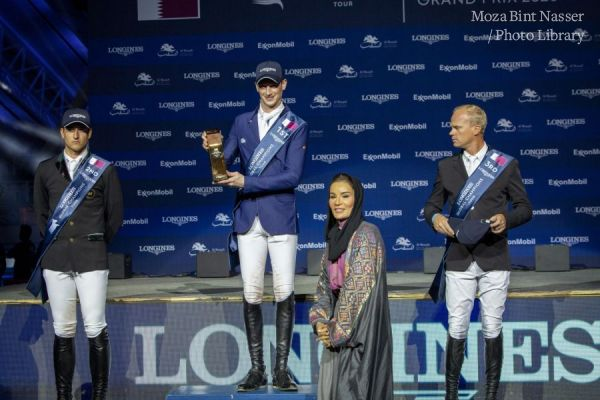 HH Sheikha Moza attends final of 2020 Longines Global Championship Tour
