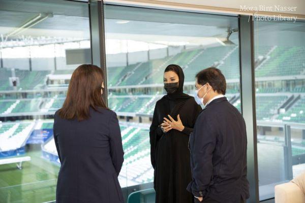 صاحبة السمو الشيخة موزا تجتمع بلجنة التقييم التابعة للمجلس الأولمبي الأسيوي