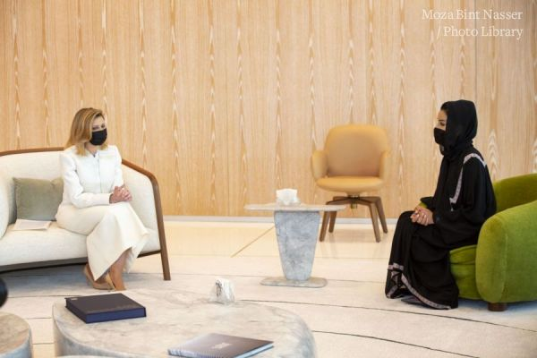 HH Sheikha Moza meets First Lady of Ukraine