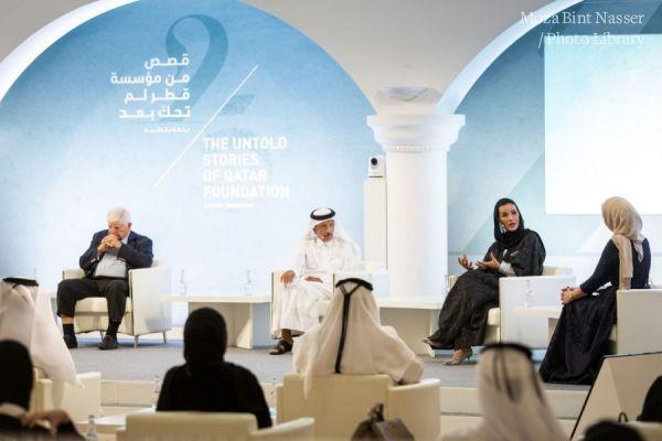 "HH Sheikha Moza participates in ""Untold Stories of QF"" panel discussion"