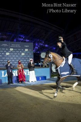 Their Highnesses attend the final of the Longines Global Championship Tour 2021